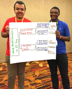 YLC members Anthony (A.J.) Cortez and Nathaniel Fomby during  CADCA's mid-year training. </center