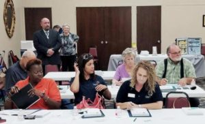 Corsicana's Regional Forum participants take notes on strategies to reduce underage alcohol use.
