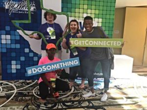 Pictured clockwise: Jeremy Glebe, Kayla Gardner, Kendrion Ferrell, and Angel Uwamu attended the Say What! Texas Tobacco-Free Conference from July 17-20 in Montgomery, Texas.
