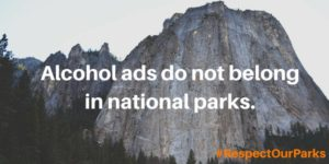 Use this image to Tweet at the National Park Service to respect our parks and respect our families.
